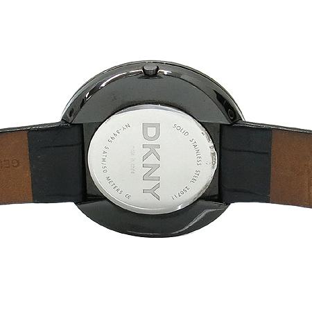 DKNY(도나카란) NY3995 라운드 장식 블랙가죽밴드 여성용시계