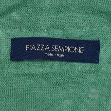 PIAZZA SEMPIONE(피아자 셈피오네) 그린 컬러 니트 반팔티
