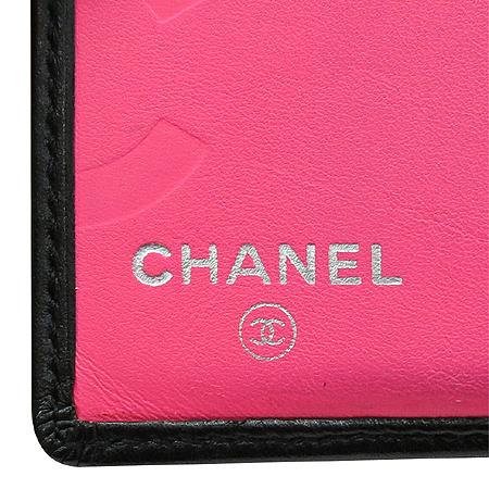 Chanel(샤넬) A26720Y03880 깜봉 COCO 로고 블랙 레더 반지갑