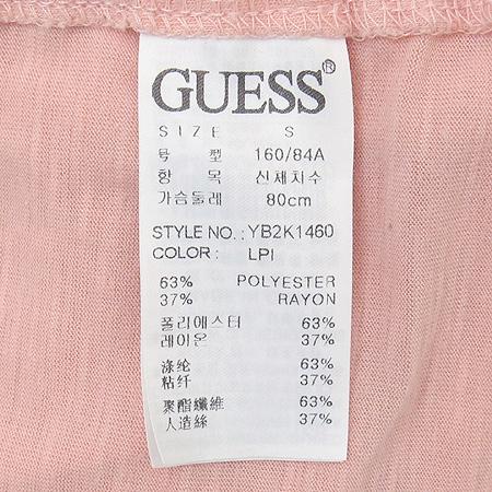 Guess(게스) 핑크컬러 반팔 티