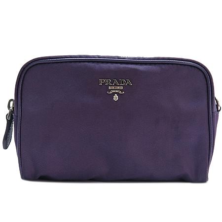 Prada(프라다) 은장 로고 장식 패브릭 파우치