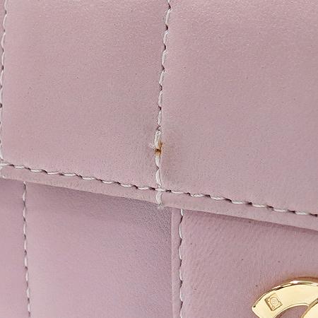 Chanel(샤넬) COCO 금장 로고 장식 램스킨 초코바 금장 체인 숄더백