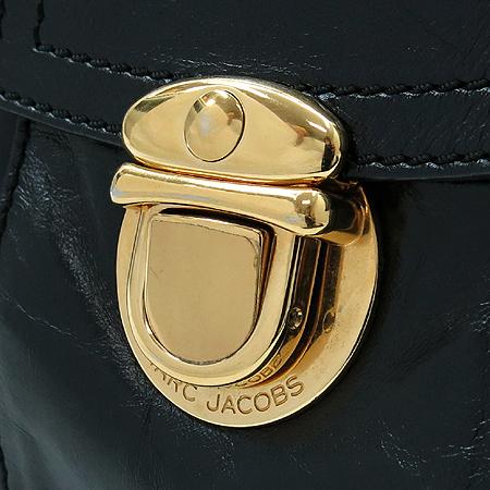 Marc_Jacobs (마크 제이콥스) 블랙 레더 투 포켓 베네치아 숄더백