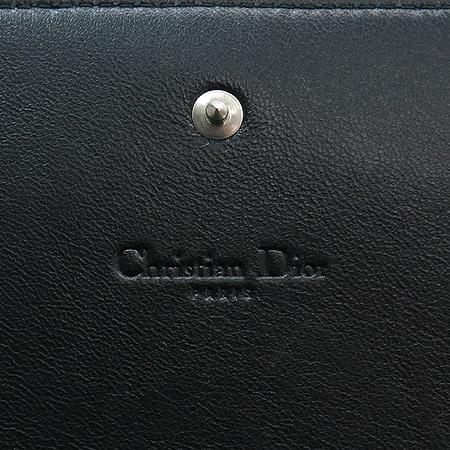 Dior(크리스챤디올) S0361PCSK 블랙 레더 D 로고  클러치 백 + 홀더