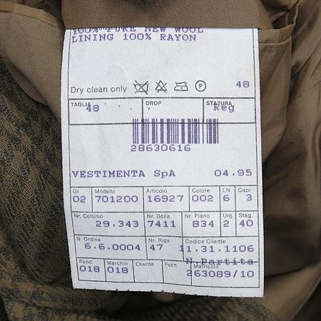 GIORGIO ARMANI(조르지오 아르마니) 브라운 컬러 체크 패턴 자켓