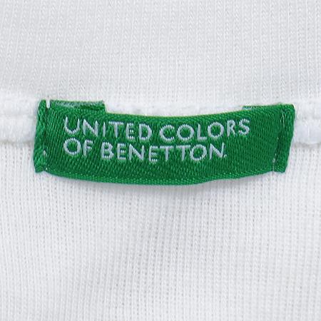 BENETTON(베네통) 화이트 컬러 브이넥 코르셋 장식 베스트