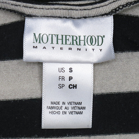 MOTHERHOOD(마더후드) 스트라이프 패턴 나시