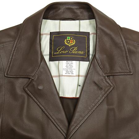 LORO PIANA(로로피아나) L06SFAB5333 브라운 양 가죽 자켓