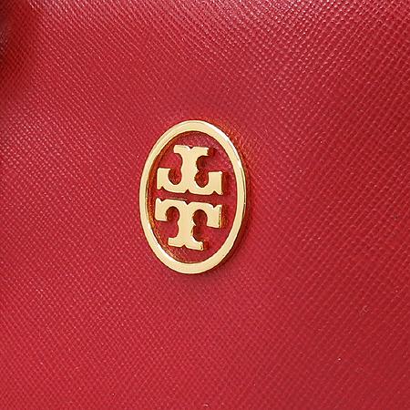 TORY BURCH(토리버치) 금장 로고 장식 레드 사피아노 로빈슨 토트백 [압구정매장]