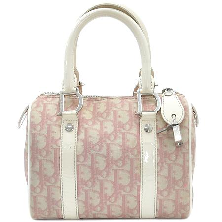 Dior(크리스챤디올) 핑크 로고 PVC 애나멜 혼방 보스톤 미니 토트백
