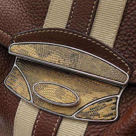 Prada(프라다) 크로크다일 장식 브라운 레더 숄더백 [대구반월당본점] 이미지3 - 고이비토 중고명품