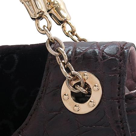 Gucci(구찌) 135952 GG 로고 드래곤 벨벳 크로커다일 패턴 트리밍 금장 체인 숄더백