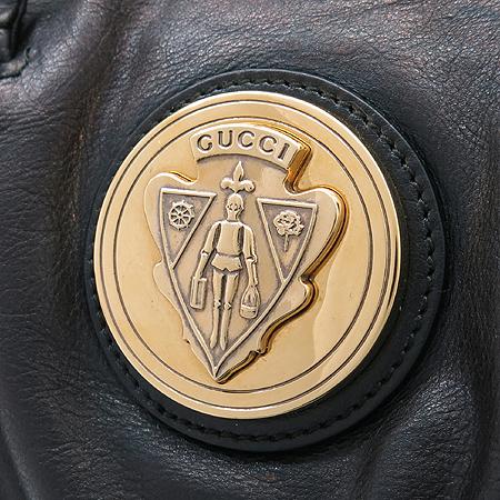 Gucci(구찌) 197020 램스킨 블랙 금장 기사로고 토트백