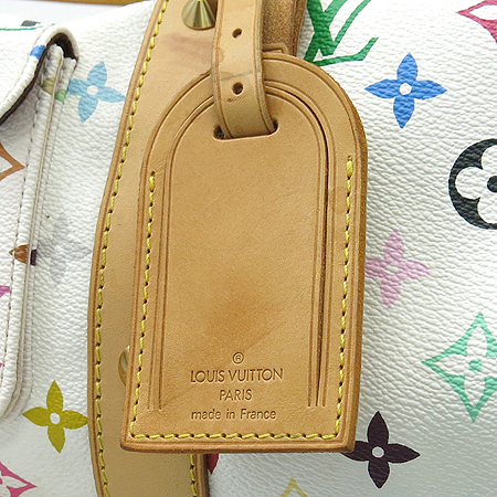 Louis Vuitton(루이비통) M92641 모노그램 멀티컬러 화이트 키폴 45 토트백 이미지4 - 고이비토 중고명품
