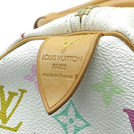 Louis Vuitton(루이비통) M92641 모노그램 멀티컬러 화이트 키폴 45 토트백 이미지5 - 고이비토 중고명품