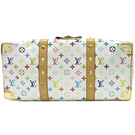 Louis Vuitton(루이비통) M92641 모노그램 멀티컬러 화이트 키폴 45 토트백 이미지6 - 고이비토 중고명품