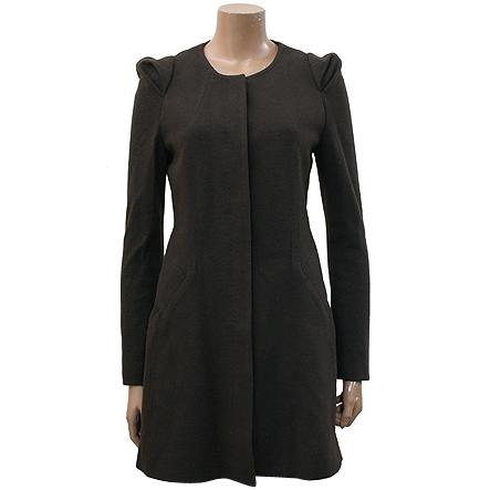 G-cut(지컷) 다크브라운 컬러 코트