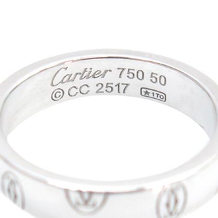 Cartier(까르띠에) 18K 화이트골드 해피버스데이 반지 - 10호