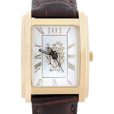DAKS(닥스) GDF7006 금장 사각 프레임 가죽 밴드 여성 시계