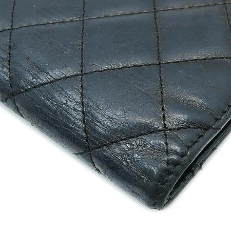 Chanel(샤넬) A35304 2.55 블랙 메탈릭 마트라쎄 장지갑