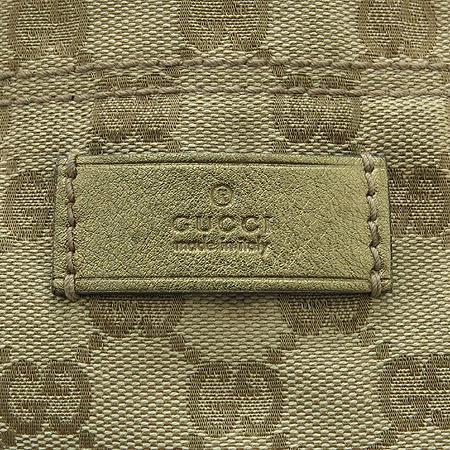 Gucci(구찌) 189669 GG 로고 자가드 삼색 스트치 토트백