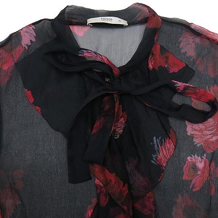 Prada(프라다) 실크 블랙 컬러 시스루 브라우스 이미지2 - 고이비토 중고명품
