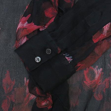 Prada(프라다) 실크 블랙 컬러 시스루 브라우스 이미지3 - 고이비토 중고명품