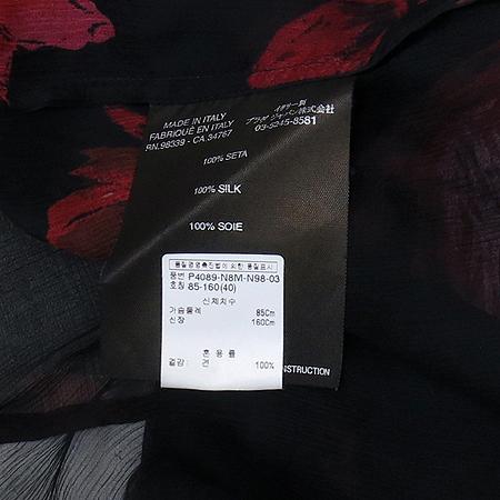 Prada(프라다) 실크 블랙 컬러 시스루 브라우스 이미지4 - 고이비토 중고명품