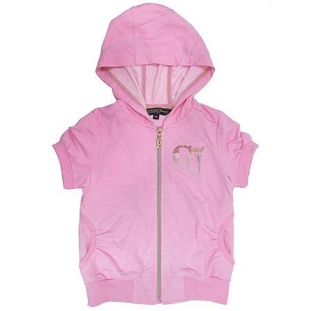 Guess(게스) 아동용 핑크 컬러 후드 집업 가디건