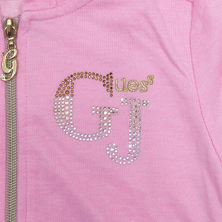 Guess(게스) 아동용 핑크 컬러 후드 집업 가디건 이미지3 - 고이비토 중고명품