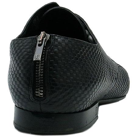 Louis Vuitton(루이비통) 미니 다미에 블랙 레더 지퍼장식 구두