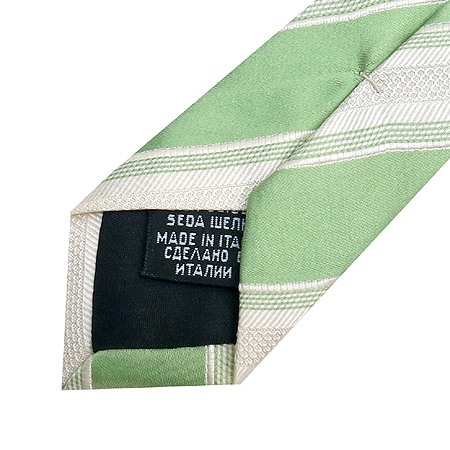 Hugo Boss(휴고보스) 100%실크 파스텔그린 스트라이프 넥타이