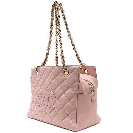 Chanel(샤넬) A18004 캐비어 스킨 COCO 로고 정방 금장 체인 숄더백