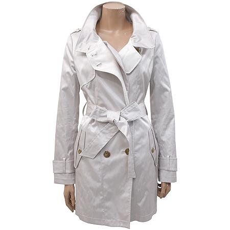 VISIT IN NEWYORK(비지트 인 뉴욕) 그레이 컬러 트렌치 코트(허리끈 SET)