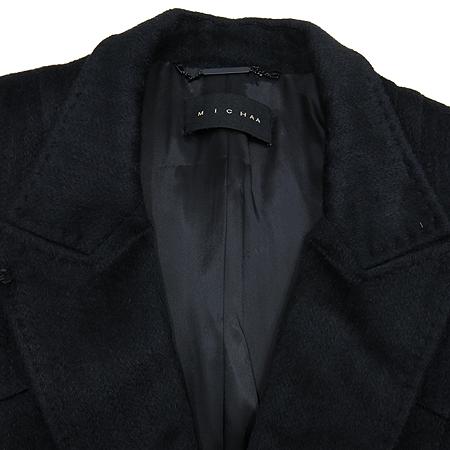 MICHAA(미샤) 블랙 컬러 알파카 혼방 하프 코트