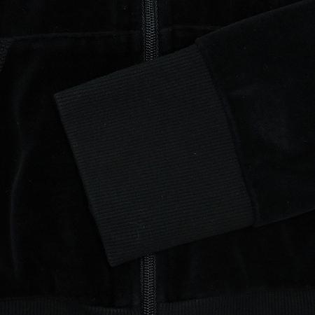 CONVERSE(컨버스) 블랙 컬러 스웨이드 후드 집업 트랙탑