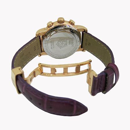 TISSOT(티쏘) T050 217 금장 원형 자개판 크로노 여성용 시계 [일산매장]