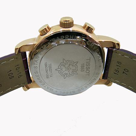 TISSOT(티쏘) T050 217 금장 원형 자개판 크로노 여성용 시계 [일산매장] 이미지4 - 고이비토 중고명품