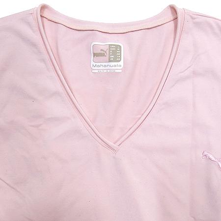 PUMA(푸마) 핑크컬러 V넥 나시