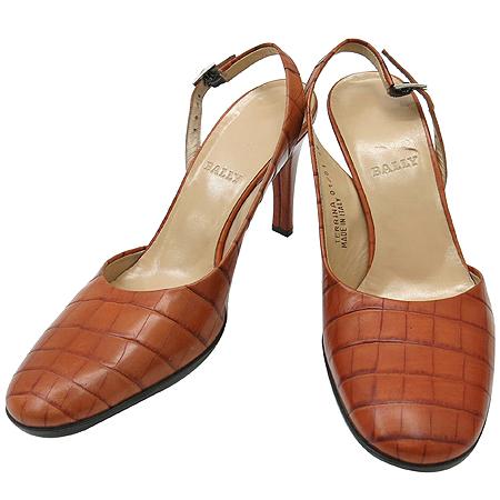 Bally(발리) 브라운 래더 크로커다일 패턴 여성용 구두