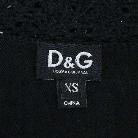 D&G(돌체&가바나) 블랙 컬러 민소매 티
