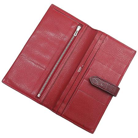 Hermes(에르메스) 은장 로고 리자드(도마뱀 가죽) 베안 장지갑 이미지4 - 고이비토 중고명품