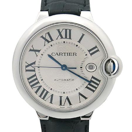 Cartier(까르띠에) W69016Z4 발롱블루 오토매틱 42mm 남성용 가죽밴드 시계 [명동매장]