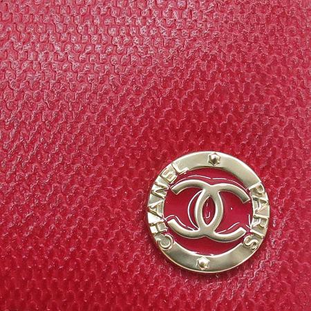 Chanel(샤넬) 금장 COCO로고 장식 레드 레더 장지갑 [명동매장] 이미지3 - 고이비토 중고명품