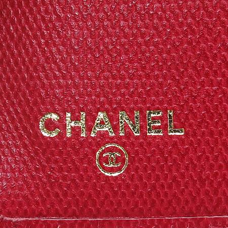 Chanel(샤넬) 금장 COCO로고 장식 레드 레더 장지갑 [명동매장] 이미지4 - 고이비토 중고명품