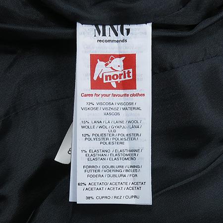 MNG(망고) 스트라이프 패턴 1버튼 자켓