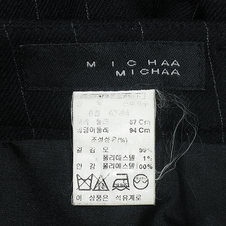 MICHAA(미샤) 스트라이프 패턴 정장 바지
