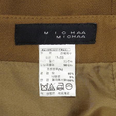 MICHAA(미샤) 브라운 컬러 정장 바지