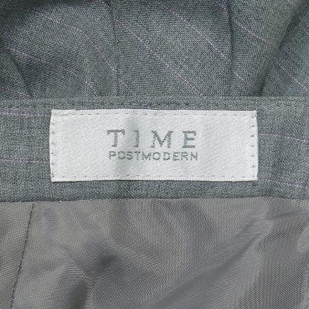 Time(타임) 그레이 컬러 실크혼방 주름 스커트