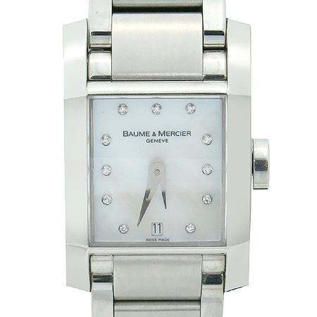 Baume&Mercier(보메메르시에) 8573 DIAMANT 11포인트 다이아 자개판 여성용 스틸 시계